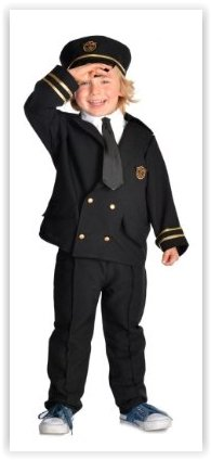 Airline Pilot - Kids Costume 3 - 5 ()