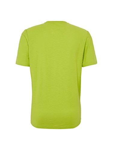 TOM TAILOR Herren Slub T-Shirt With Print fan plant green