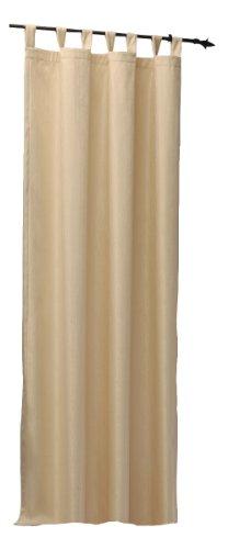 Thermogardine Übergardine blickdicht Vorhang Polar Fleece Gardine Ösen, Kräuselband oder Schlaufen B/H ca. 140x245 cm Farbwahl #373 (Schlaufe beige)