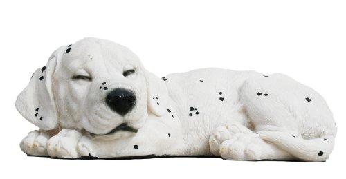 Dekofigur, schlafender Dalmatiner Welpe Garten Wohnung Tierdeko Dekoration (Schaf Oder Ziege Figur)
