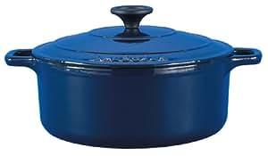 Chasseur Casserole, round, 24cm, 3.5ltr Cobalt Blue