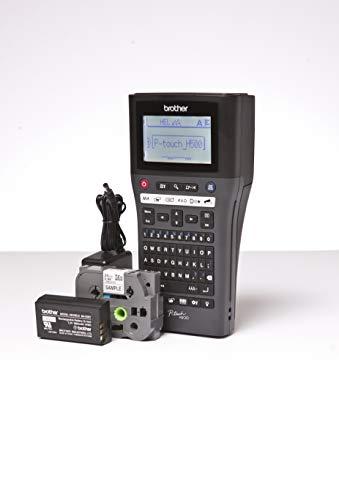 Brother P-Touch H500LI Beschriftungsgerät mit PC-Anschluss (180 dpi, 3,5-24 mm breite TZe-Schriftbänder, USB) schwarz