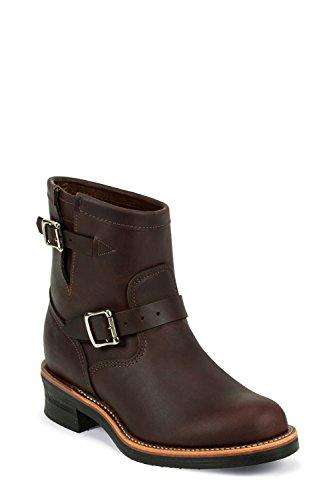 Chippewa 1901M52 Herren Leder Boots Stiefel braun, Cordovan Oil-tanned mit Vibram V-Bar Kork Sohle Braun