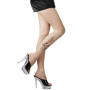 Preisvergleich Produktbild Fancy Kleid Strumpfhosen Dessous Blume Tattoo Erwachsenen Größe