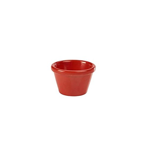 Genware Nev-s275–05 Ramequin lisse, 1,5 g, Rouge