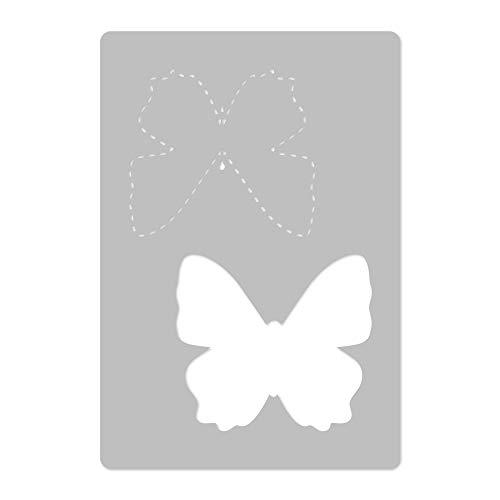 Wiederverwendbare Wandschablone aus Kunststoff // 65x95cm // Gepunkteter Schmetterling // Muster Schablone Vorlage