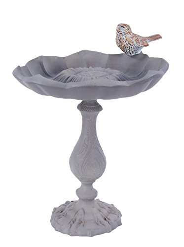 Sunflower Bird Bath - Rustic