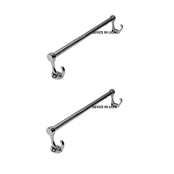 Device in Lion Stainless Steel Ultra Big Hook 18 inches Towel Rod (Heavy) (2)