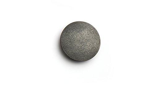 LGM-Beschlag Möbelknopf Frankfurt, Design, Vintage, Kunststoff - Grau-Silber, 47 mm x 47 mm x 20 mm, 50372 (Kunststoff Grau Silber)