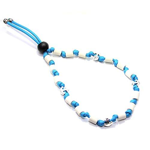 EM-Keramik Halsband für Hunde, wahlweise mit Namen und weiteren Extras, Classic - Colonial Blue