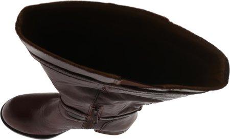 Lucky Brand Rorkie Rund Kunstleder Mode-Knie hoch Stiefel Bourbon