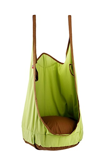 Bar-stuhl-seat-kissen (eggdel Frosch zum Aufhängen Pod Swing Sitz Innen- und Outdoor Hängematte für Kinder bis Erwachsene (Grün))