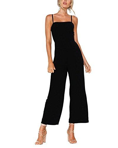 Damen Schwarz Kleid Hose Hosen - YOINS Jumpsuit Damen Elegant Sommer Overall