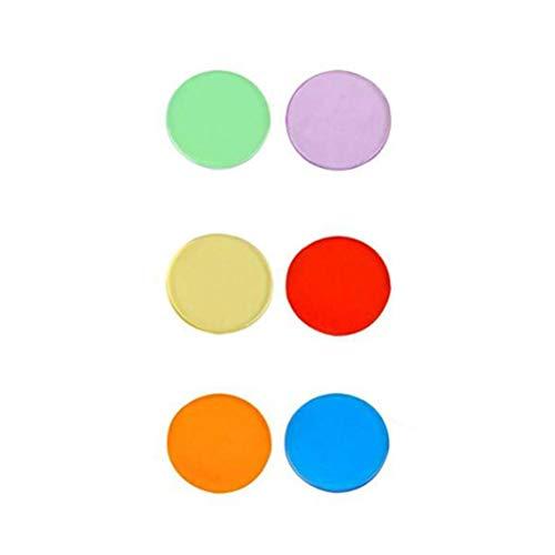 200 Pezzi Trasparente Colore Contatori Conteggio Bingo di Chip Plastica