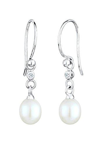 Diamore Damen-Ohrhänger 925 Sterling Silber Diamant