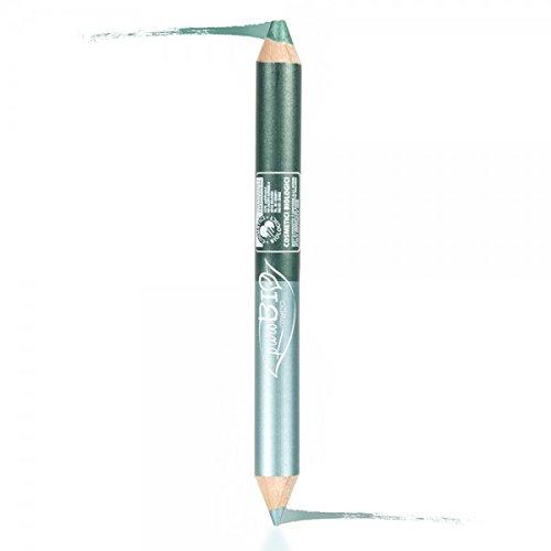 PUROBIO - Lápiz Ojos DUO NIGHT - Kajal Verde Octano + Sombra de Ojos Verde Esmeralda - Look Intenso, Larga Duración, Textura Suave