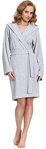 Merry Style Damen Morgenmantel MS542 Grau