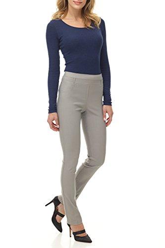 Pantaloni Rekucci Slim di grande conforto per donna Argento