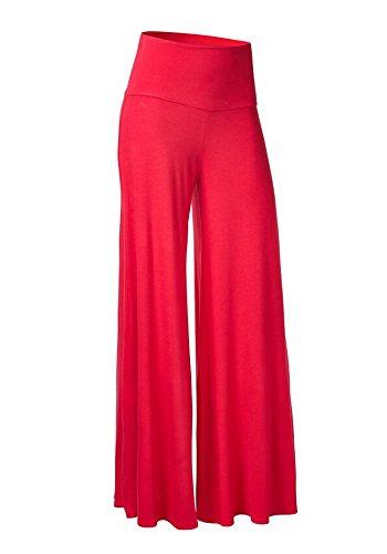 Casualqa comodo donna chic palazzo lounge pantaloni Red 44