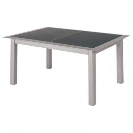 Table verre alu