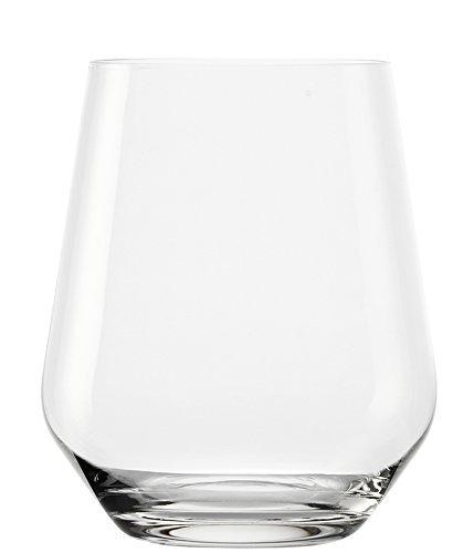 Stölzle Lausitz 370 ml Revolution Whisky Glas/Wasserglas, 6er Set Whiskyglas, spülmaschinenfest, hochwertige Qualität