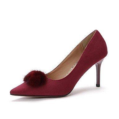 Zormey Frauen Heels Frühling Sommer Herbst Club Schuhe Comfort Fleece Büro & Amp; Karriere Party & Amp; Abendkleid Stiletto Heel Pom-Pom Wandern US7.5 / EU38 / UK5.5 / CN38