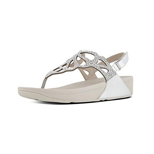 Fitflop Bumble Crystal Tm Sandal, Infradito Donna, Argento (Silver 011), 41 EU