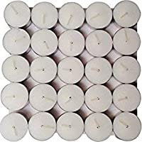AOEC DECORZ SMOKELESS TEALIGHT Candles (White, Pack of 50, 4 Hour Burning TIME)