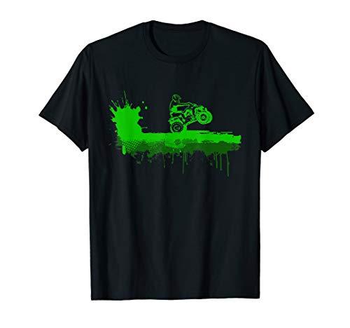 ATV Off Road Schlamm Splatter Grün Quad Biking Geschenk T-Shirt