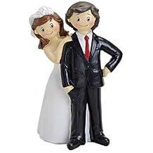 Pareja Novios–Figura para tartas–Mesa Figura–Figura de decoración para la boda 10x 6x 16cm, Variante 2