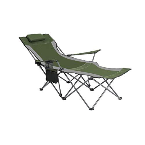 CGF-Faltstuhl Klappstuhl Klappstuhl Camping Stuhl Schwerelosigkeit Einfach Klapp Camping Angeln Garten Picknick Becherhalter und Aufbewahrungstasche, Lager 150 kg, Grün