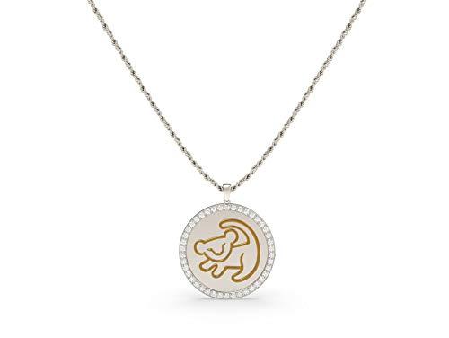 Chiefstore Lion King Halskette Simba Anhänger Film Cosplay Kostüm Zubehör Kunst schmuck Geschenkbox für Frauen Mädchen Herren - König Kostüm Zubehör