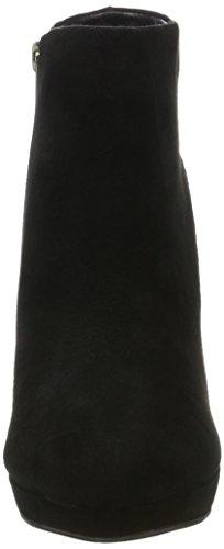 Buffalo London - 410-10645 L Kid Suede, Bottes Basses Avec Rembourrage Léger Femme Noir (noir (noir 01))