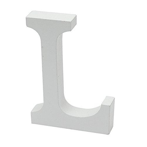 Partei Dekorative Weiße Holz-Alphabet L Holz Weiß Buchstaben Hochzeit Geburtstag Home Dekoration