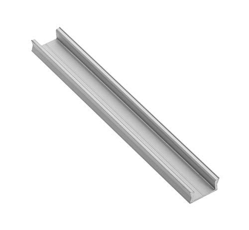 ED-Profil mit Opal, matter lichtstreuender Kanal für 12V 24V 505056303528Lichtstreifen Einfarbig RGB Weiß Küchenschrank, 5 x 1 Meter ()