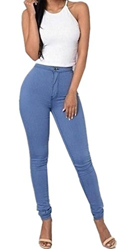 LooBoo Damen High-Waist Stretch Röhrenjeans Denim Jeans Modern Lässige Hosen (Bootcut-velours-hose)