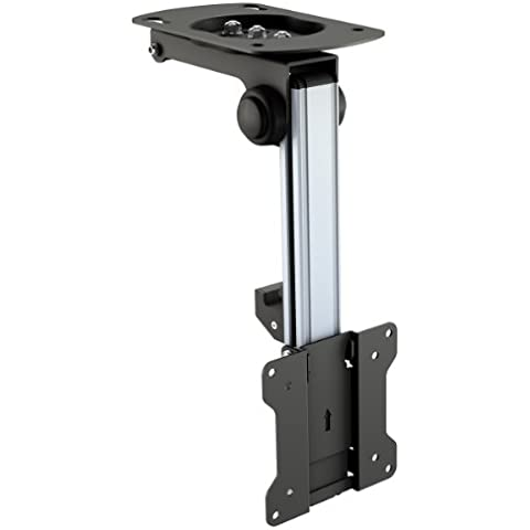 RICOO Soporte TV Techo para Monitor D0111 soporte techo monitor giratorio inclinable abatible brazo orientable soporte para inclinación del techo soporte monitor para pantalla plana VESA 75x75 100x100 para 15 - 32