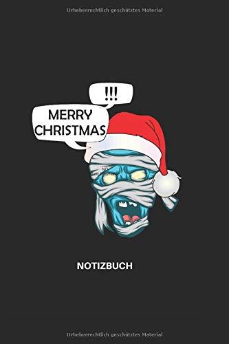 Merry Christmas Notizbuch: Liniertes weihnachtliches Horror Notizbuch für Aufzeichnungen aller Art