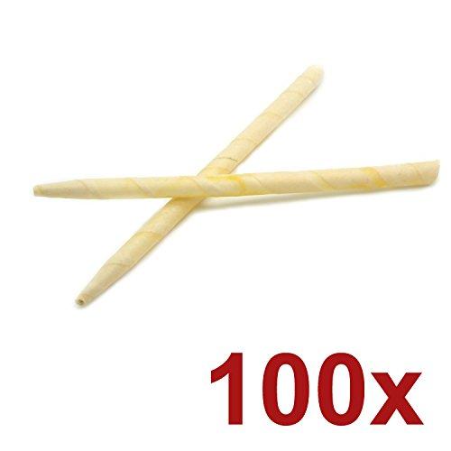 *Incutex 100x sanft duftende Ohrkerzen aus natürlichem Bienenwachs, Wellnesskerzen, Ohrenkerzen*