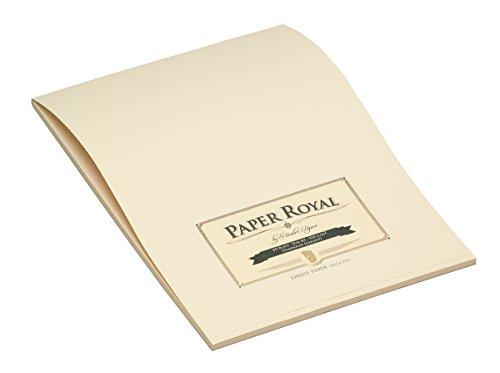 Rössler 2002831008 - Paper Royal - Briefblock A4, 40 Blatt, chamois gerippt