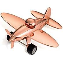 mit R/ückziehmotor gl/änzend das Original von TROIKA 5 Klammern TROIKA,PROPELLER Briefbeschwerer Flugzeug GAP12//CH Magnet f/ür B/üroklammern silber inkl Retro Flugzeug