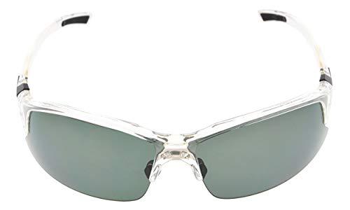 Eyekepper Polycarbonat Polarized TR90 Unzerbrechliche Halbrand Sport Sonnenbrillen Für Männer Frauen Baseball Running Angeln Fahren Golf Softball Wandern Clear Frame G15