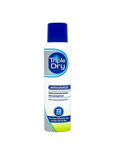 Triple Dry Anti-Transpirant-Spray – Deo-Spray mit 72 Std Anti-Transpirant-Schutz/ 2er Pack (2 x 150 ml