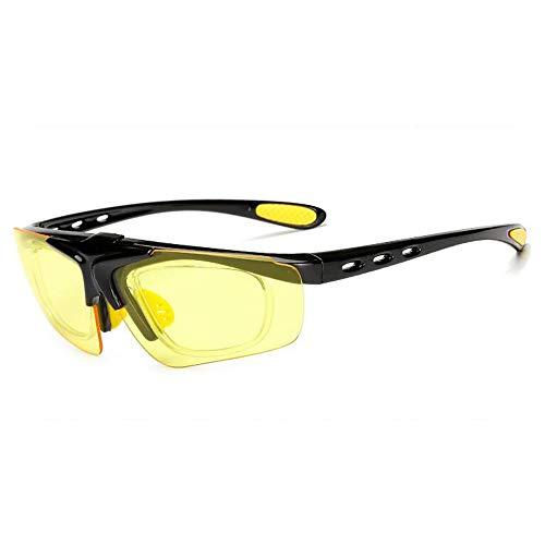 Easy Go Shopping New Flip Sonnenbrille Männer und Frauen Reiten Brille Fahrrad Outdoor-Sportbrillen Myopie Sonnenbrille Sonnenbrillen und Flacher Spiegel (Color : 5, UnitCount : 2PCS)