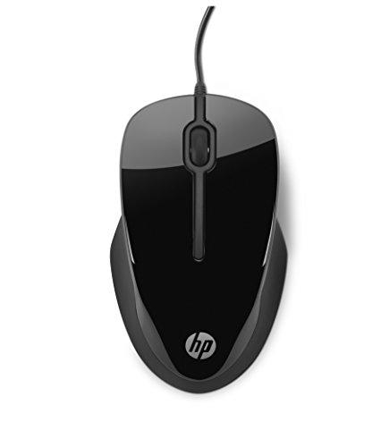 HP X1500 - Ratón con cable (3 botones, óptico, USB), negro