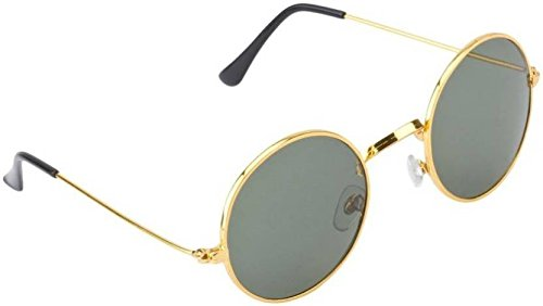 Poloport Green Round Sunglasses