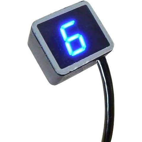 Denshine universale digitale a 8 Velocità, con LED indicatori moto Gear Display luce con sensore leva del cambio - Shift Indicator Luce