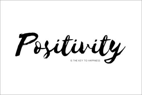 Alubild 180 x 120 cm: Positivity is The Key to Happiness (Englisch) von Ohkimiko