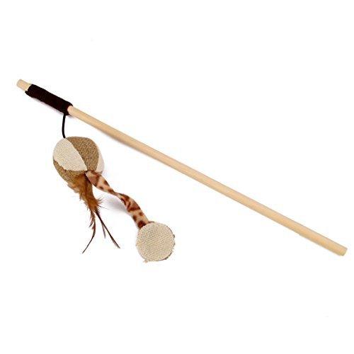 Chaton jouet pour chat interactif avec canne à pêche Corde élastique citrouille en lin avec Bell