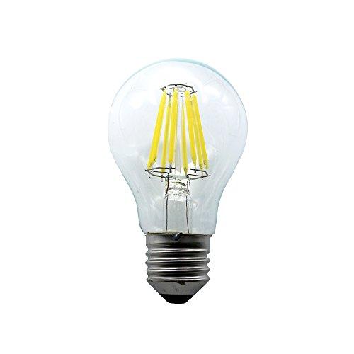 Mengjay® Lampada 1 pezzi pacchetto filamento LED sostituisce 60 Watt E27, 8W, bianco freddo 650 lumen, candela filato lampada a LED, 360 ° 220V AC